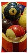 Billiards - 9 Ball - Pool Table - Nine Ball Beach Towel