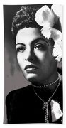 Billie Holiday Singer Song Writer No Date-2014 Beach Towel