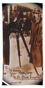 Billy Bitzer D.w. Griffith Pathe Camera Way Down East 1920-2013 Beach Towel