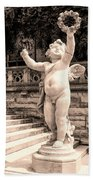 Biltmore Cherub Asheville Nc Beach Towel by William Dey