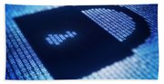 Electronic Data Security Beach Towel
