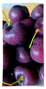 Bing Cherries Beach Towel