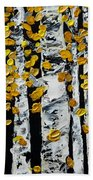 Birch Study Fall Beach Towel