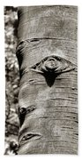 Birch Tree Spirits Beach Sheet