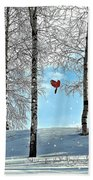 Birch Trees Beach Towel