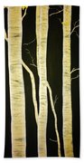 Birch Trees Beach Towel