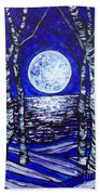 Birches With Shining Water Beach Towel