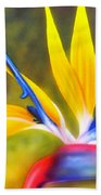Bird Of Paradise Revisited Beach Towel