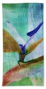 Bird Of Paradise Watercolor Beach Towel