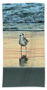 Bird Reflection Beach Towel