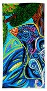 Bird Song Beach Towel by Genevieve Esson
