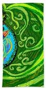 Bird Song Swirl Beach Towel