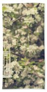 Birdcage In Blossom Beach Towel