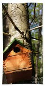 Birdhouse By Line Gagne Beach Towel