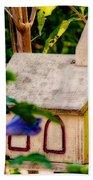 Birdhouse Church Beach Towel