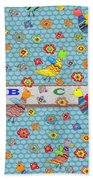 Birds And Flowers For Children Beach Towel