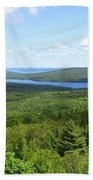 Bird's Eye View Of Eagle Lake Beach Towel