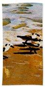 Birds In The Surf Beach Towel