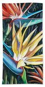 Birds Of Paradise  2   Sold Beach Towel