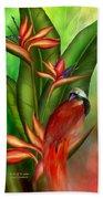 Birds Of Paradise Beach Towel