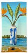 Birds Of Paradise Over Fiji Beach Towel