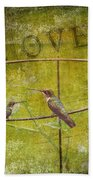 Birds On A Wire Beach Towel