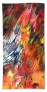 Birds On Fire Beach Towel