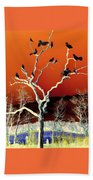 Birds On Tree Beach Towel