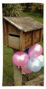 Birthday Balloons Beach Towel