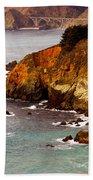 Bixby Bridge Of Big Sur California Beach Towel