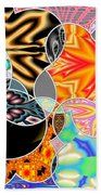 Bizzarro Colorful Psychedelic Floral Abstract Beach Towel