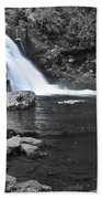 Black And Color Waterfall Beach Towel