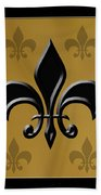 Black And Gold Beach Towel