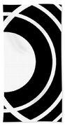 Black And White Art 170 Beach Towel