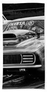 Black And White Chevy Camaro Ss Hotrod Beach Towel