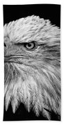 Black And White Eagle Beach Towel