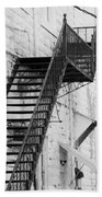 Black And White Fire Escape Usa Near Infrared Beach Towel