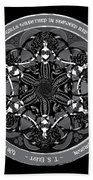 Black And White Gothic Celtic Mermaids Beach Towel