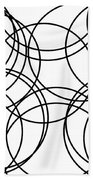 Black And White Hoops Beach Towel