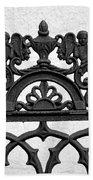 Black And White Ironwork Beach Towel by Alys Caviness-Gober