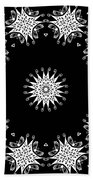 Black And White Medallion 9 Beach Towel