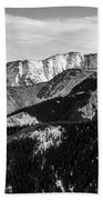 Black And White Mountains Beach Towel