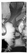 Black And White Orchids Beach Towel