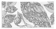 Black And White Owl Beach Sheet