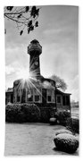 Black And White Philadelphia - Turtle Rock Lighthouse Beach Towel
