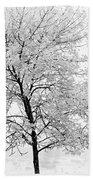 Black And White Square Tree  Beach Sheet