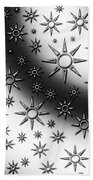 Black And White Suns Beach Towel