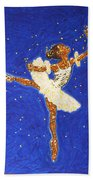 Black Ballerina Beach Towel
