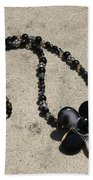 Black Banded Onyx Wire Wrapped Flower Pendant Necklace 3634 Beach Towel
