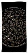 Black Beans In Bowl Beach Towel
